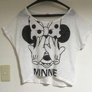 ディズニー(Disney)のミニーちゃん半袖トップス(Tシャツ(半袖/袖なし))