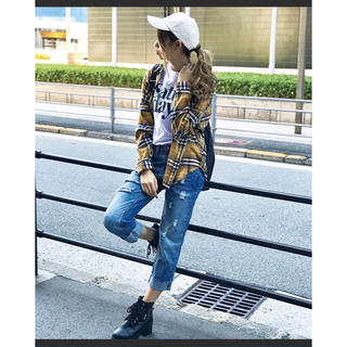 スピーガ(SPIGA)のチェックシャツ 2way イエロー 黄色 未使用品(シャツ/ブラウス(長袖/七分))