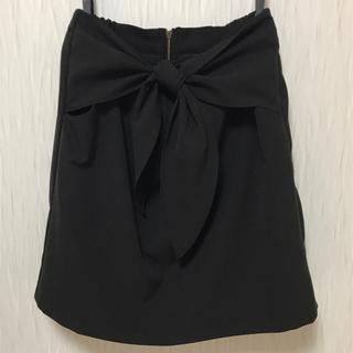 ローリーズファーム(LOWRYS FARM)のリボン スカート 黒(ミニスカート)