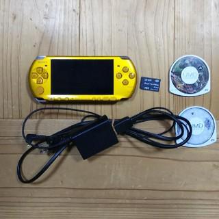 プレイステーションポータブル(PlayStation Portable)のPSP3000本体とソフト2個セット(携帯用ゲーム本体)