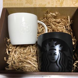 Starbucks Coffee - ☆新品未使用☆スターバックス マグカップ ブラック&ホワイト ☆箱入り
