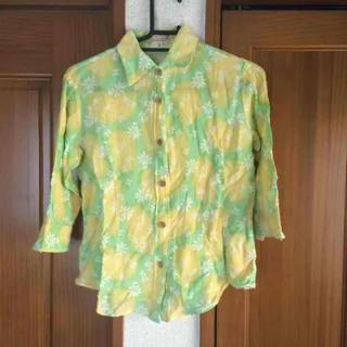 ココルル(CO&LU)のココルル 花柄コットンシャツ(シャツ/ブラウス(長袖/七分))