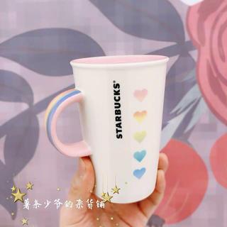 Starbucks Coffee - 海外スターバックス 台湾 マグカップ レインボー バレンタイン ハート 虹