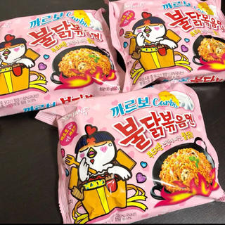プルダックポックンミョン  カルボナーラ 3袋(麺類)