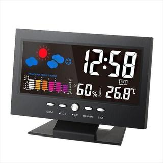 ■デジタル温度湿度計 LCD温度湿度計(置時計)