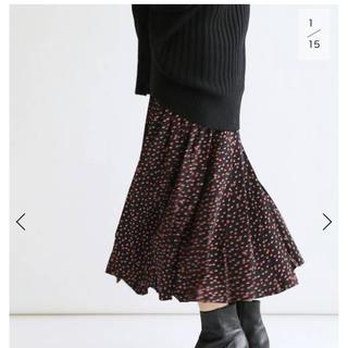 イエナ(IENA)のドットプリーツスカート  40サイズ(ひざ丈スカート)