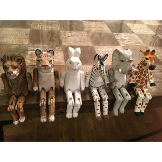 niko and... - wood animal toy セット ウッドアニマルトイ