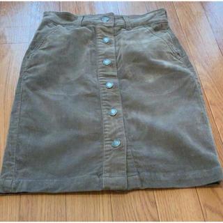 アールユー(RU)のru 小さいサイズ コーディロイ スカート(ひざ丈スカート)