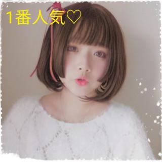 ❤人気No1❤ 姫カット ショートカット フルウィッグ ロリータ 原宿(ショートストレート)