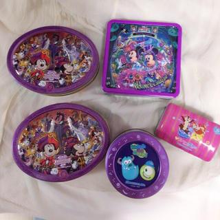 ディズニー(Disney)のdisney  缶 5個セット(小物入れ)