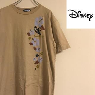 ディズニー(Disney)のDisney ディズニー ミッキー 半袖 Tシャツ  LLサイズ ベージュ(Tシャツ/カットソー(半袖/袖なし))