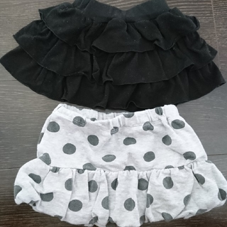 ベベ(BeBe)のスカート2枚セット 80(スカート)