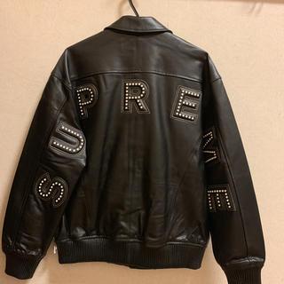 シュプリーム(Supreme)のsupreme arc logo leather jacket black m(レザージャケット)