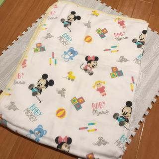 ディズニー(Disney)のベビーミッキー ガーゼケット 赤ちゃん 出産準備 リボーンドール(おくるみ/ブランケット)