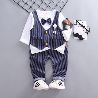 ✨訳あり値下げ✨ ベビースーツ ズボン  結婚式 キッズ服 2点セット90(ドレス/フォーマル)