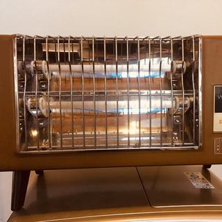 パナソニック(Panasonic)の【送料無料】national レトロ 木目調 電気ストーブ(ストーブ)