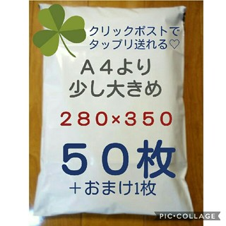 A4より少し大きめ 宅配ビニール袋(ラッピング/包装)
