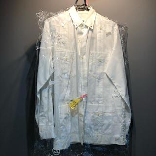バル(BAL)のバル タック入り 白シャツ Mサイズ シミあり(シャツ)