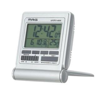 新品☆置時計 電波時計 目覚まし時計  電波受信 温度計 カレンダー(置時計)