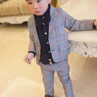【大特価】ベビー キッズ 子供 タキシード フォーマル3点セット 【304】(ドレス/フォーマル)