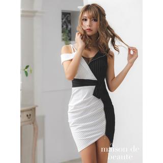 エミリアウィズ(EmiriaWiz)の新品emiriawizストライプ 衿付き シャツ風 ミニドレスanアンディー(ミニワンピース)