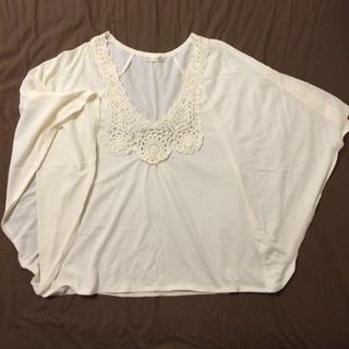 カギ編み トップス(Tシャツ(半袖/袖なし))
