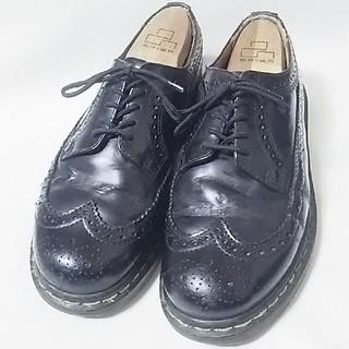 ドクターマーチン(Dr.Martens)の 希少廃盤イングランド製!ドクターマーチンウィングチップローファービンテージ黒(ドレス/ビジネス)