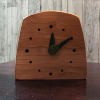天然木置き時計(置時計)