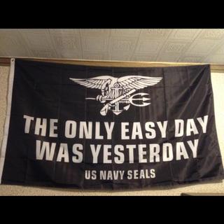 米海軍 特殊部隊 NAVYSEALs ミリタリー フラグ 旗 タペストリー(その他)