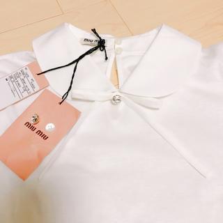 miumiu - miumiu ビジュー リボン Tシャツ