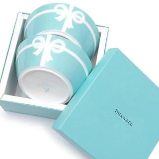 ティファニー(Tiffany & Co.)のティファニー ブルーボックスボウル 2個セット(食器)