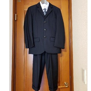 男の子 スーツ 紺 155cm 4点セット 3ピース+ネクタイ セット(ドレス/フォーマル)