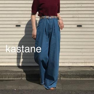 カスタネ(Kastane)の新品❁カスタネ イージールーズデニム サイズ2(デニム/ジーンズ)