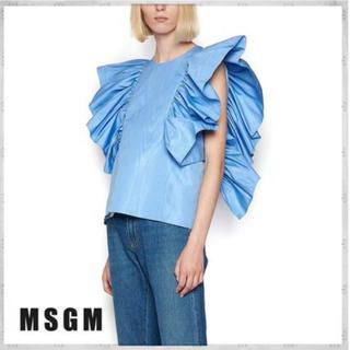 エムエスジイエム(MSGM)のMSGM ☆Ruffled Blouse(シャツ/ブラウス(半袖/袖なし))