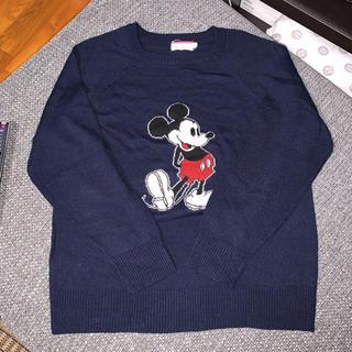 ディズニー(Disney)のDisney mickey ニット レディース Msize(ニット/セーター)