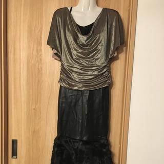 ギャルズビル(GALSVILLE)のGALSVILLE9号ファー付きロングスカート(ロングスカート)