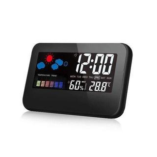 ■デジタル湿度計 温度計 目覚まし時計 LCD大画面(置時計)