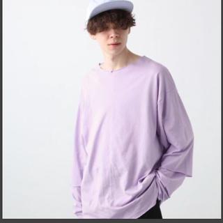ハレ(HARE)のHARE ソデレイヤードカットソー パープル S 新品未使用(Tシャツ/カットソー(七分/長袖))
