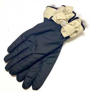 クレイサス(CLATHAS)の新品 豚革 クレイサス 内側ファーボア 裏起毛 リボン手袋(手袋)