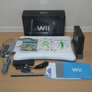Wii - wii クロ バランスボード セット 【ソフト3本】