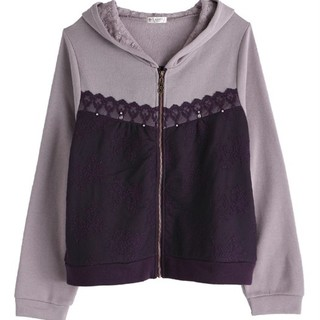 アクシーズファム(axes femme)の新品タグ付き パーカー 紫×薄紫(パーカー)