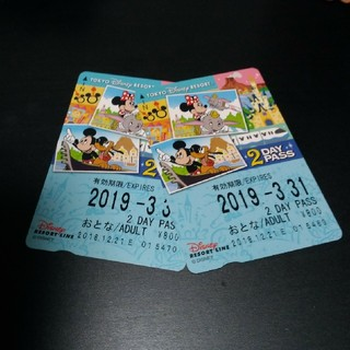 ディズニーリゾートライン 2day pass(鉄道乗車券)