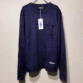 トイプレーン(TOYPLANE)の新品 TOYPLANE MOHAIR POCKET SWEATER navy(Tシャツ/カットソー(七分/長袖))