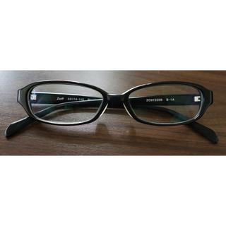 ゾフ(Zoff)のzoffゾフ★メガネ、眼鏡★黒スクエア★プラスチック 近視用 度入り★ケース付(サングラス/メガネ)