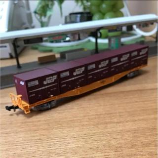 Nゲージ用JR貨車コキ350000形(コンテナあり)駅ホームセット(鉄道模型)