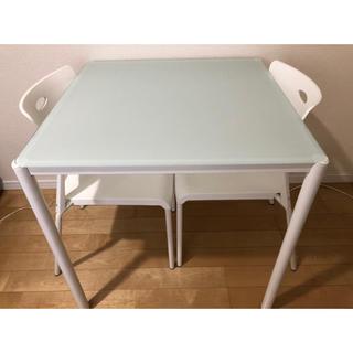 ダイニング テーブル 3点セット食卓テーブル  値下げしました‼︎(ダイニングテーブル)