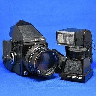 ブロニカ Bronica SQ ファインダー3種類 150mmレンズ フラッシュ(フィルムカメラ)