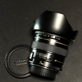 キヤノン(Canon)のCANON EF20mm f2.8 フード付き 美品(レンズ(単焦点))