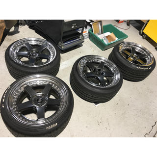 美品 WORK ジスタンス W5S タイヤセット バリ溝 ピレリ ベンツ (タイヤ・ホイールセット)