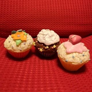 カップケーキ型 キャンドル 3個セット(キャンドル)